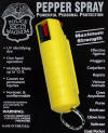 Yellow 1/2 oz Clamshell Spray with Clip and keychain
