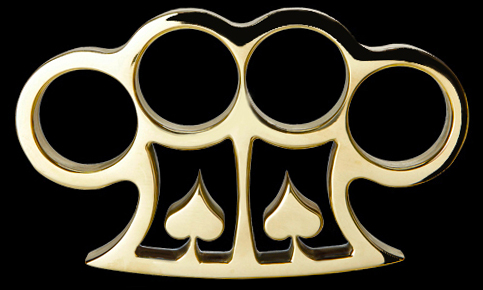 American Made 2 Spades Brass Knuckles