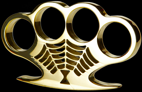 American Made Black Widow Brass Knuckles