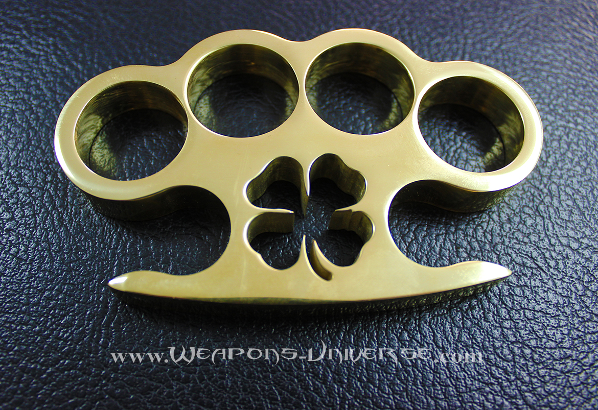 American Made Clover Brass Knuckles