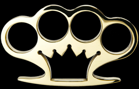 American Made Crown Brass Knuckles