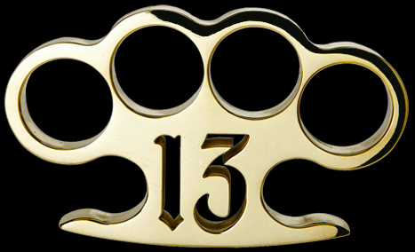 American Made Lucky 13 Brass Knuckles