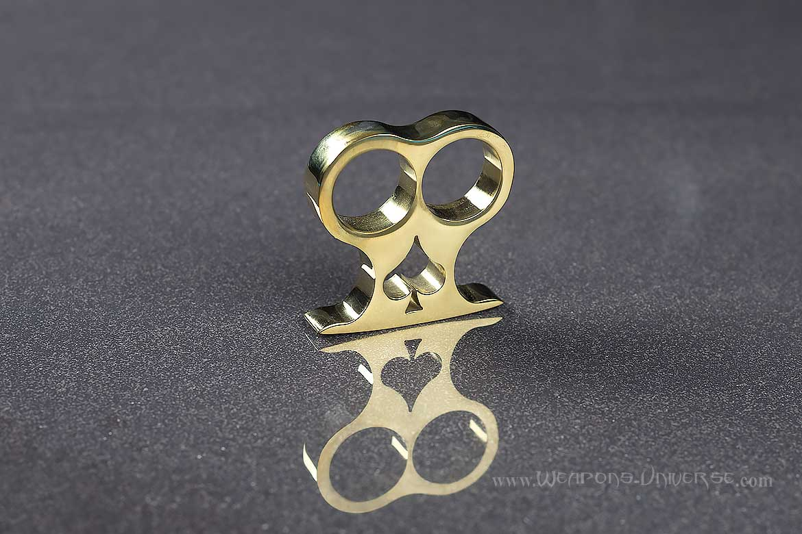 American Made Spade Two Finger Brass Knuckles