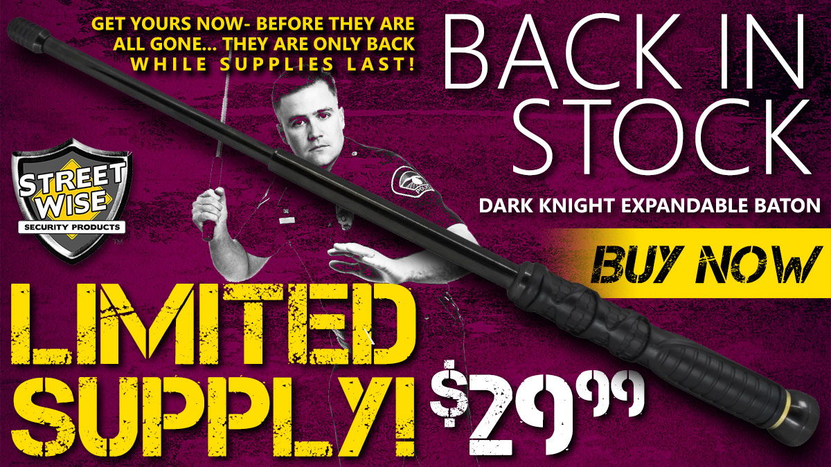 Limited Supply Dark Knight Expandable Baton!