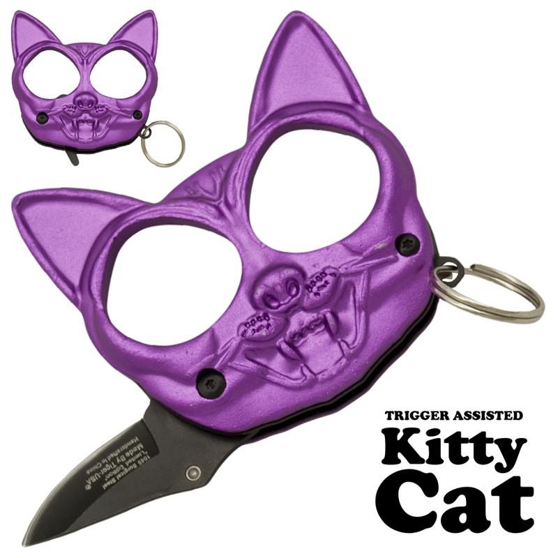 Black Cat Public Safety Jabber and Knife, Purple