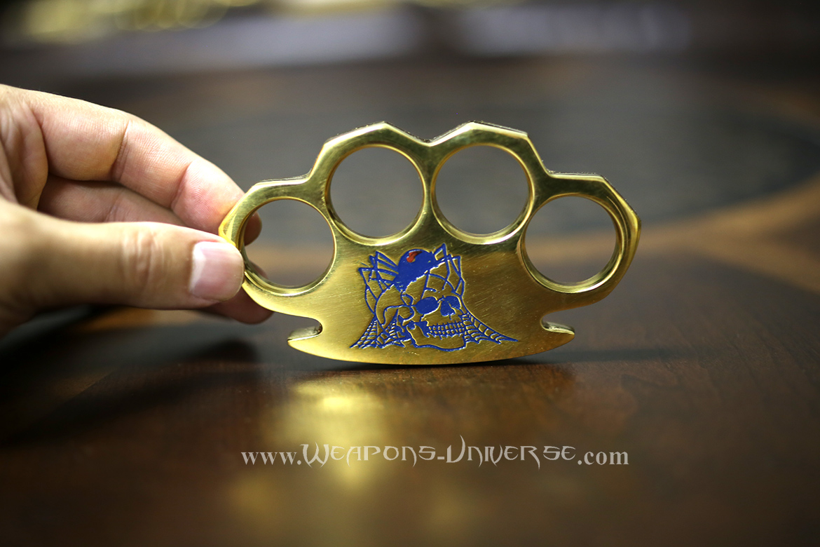 Black Widow Real Brass Knuckles, Blue