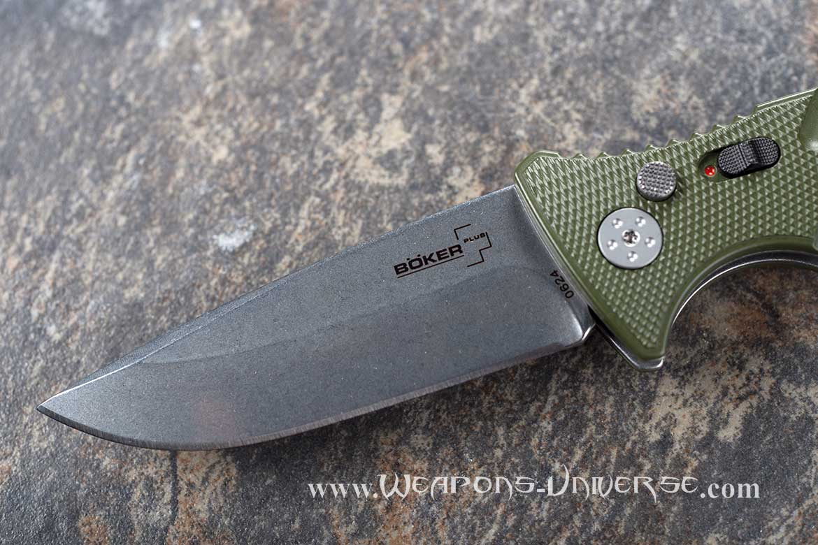 Boker 402N Plus Strike Auto Knife, Green, Spearpoint