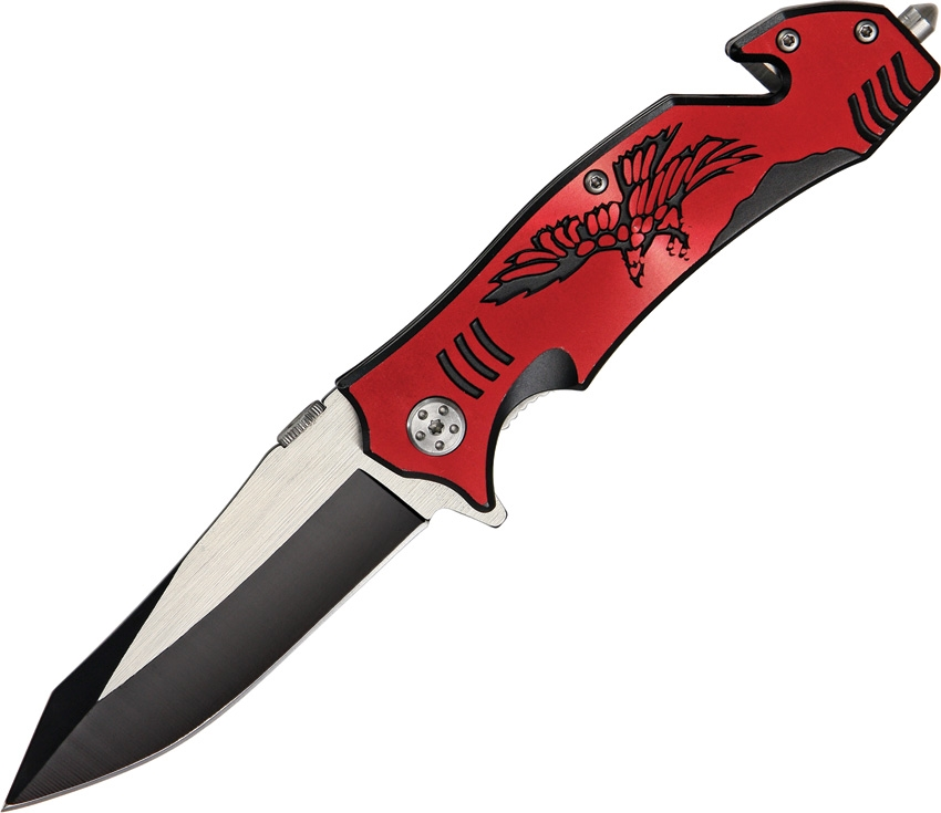 China Made CN300257RD Eagle Rescue Linerlock Knife