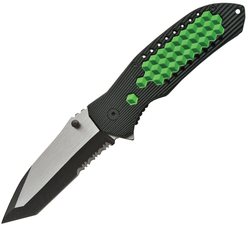 China Made CN300314GN Matrix Linerlock A/O Knife