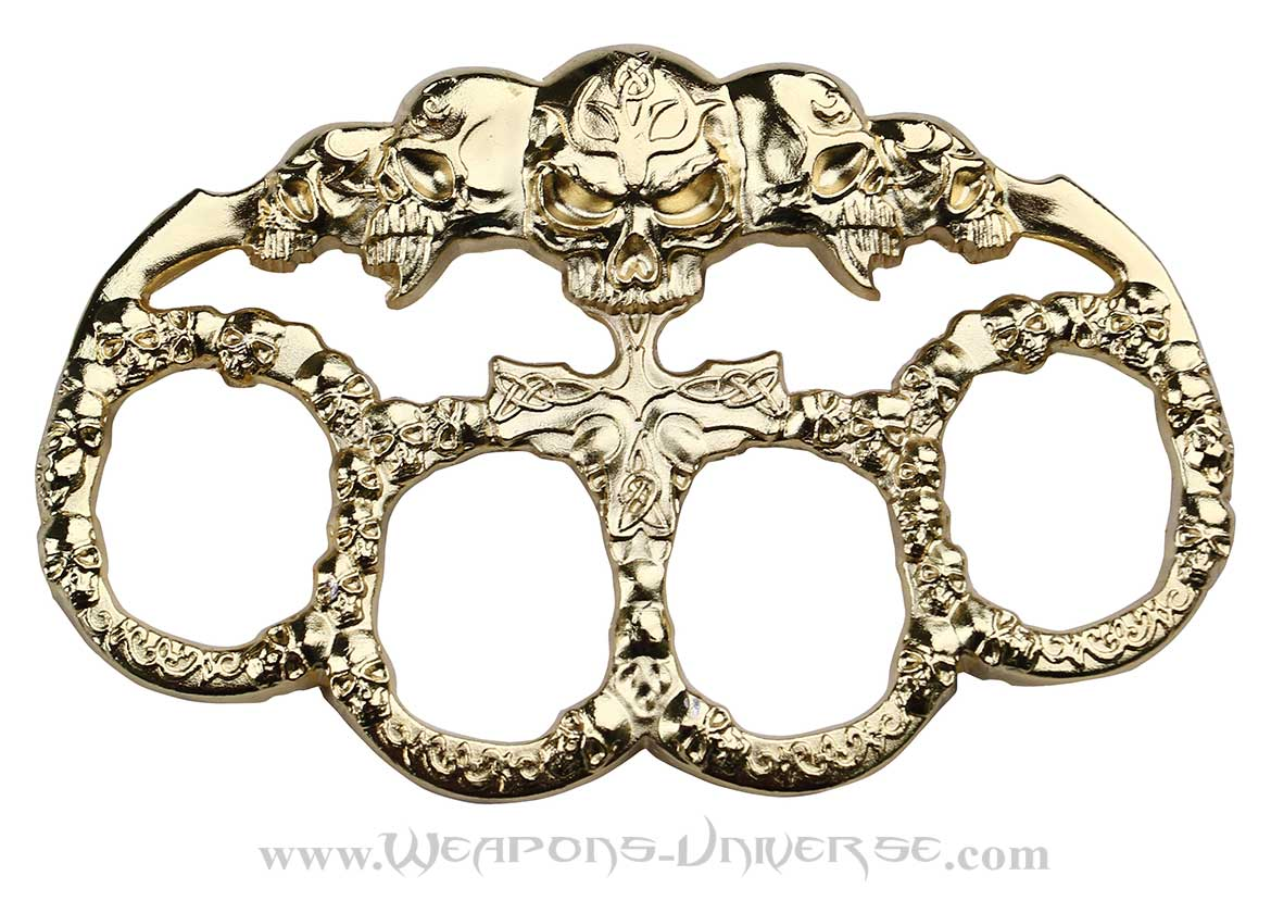 Dark Affliction Brass Knuckles, Gold