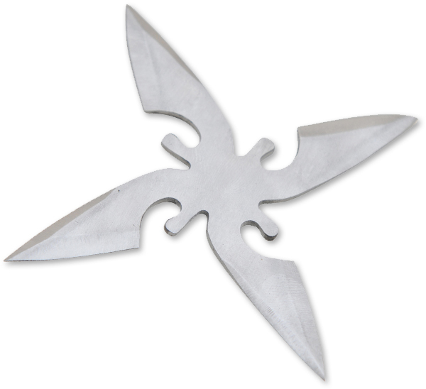 Deadly Assassin Stainless Steel Throwing Star, Silver