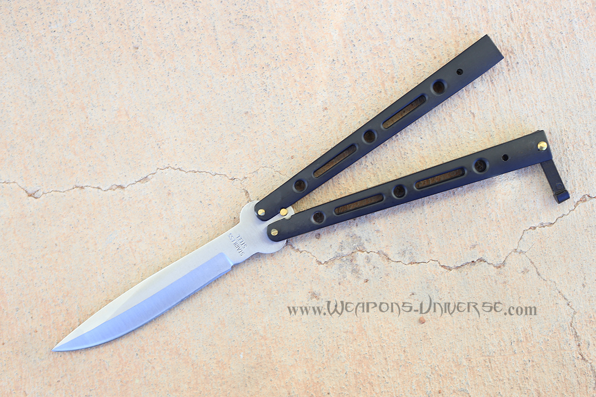 Deluxe Butterfly Knife, Black