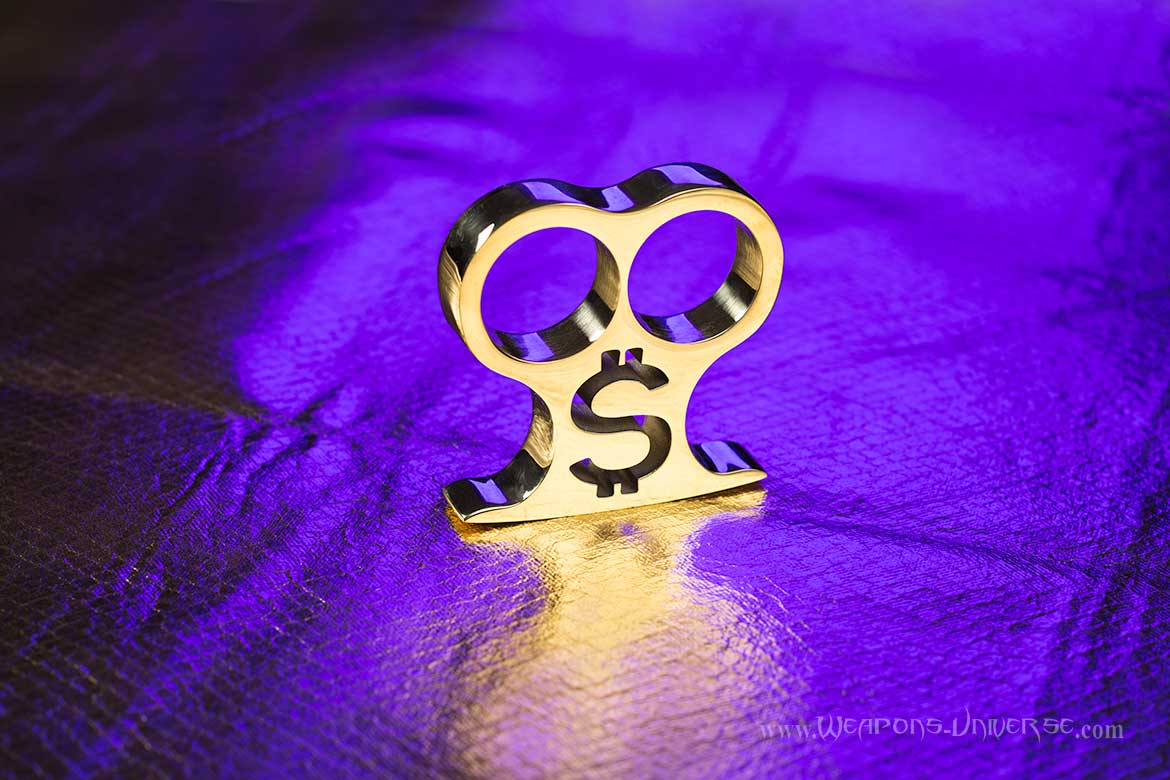 Golden Dollar Two Finger Brass Knuckles