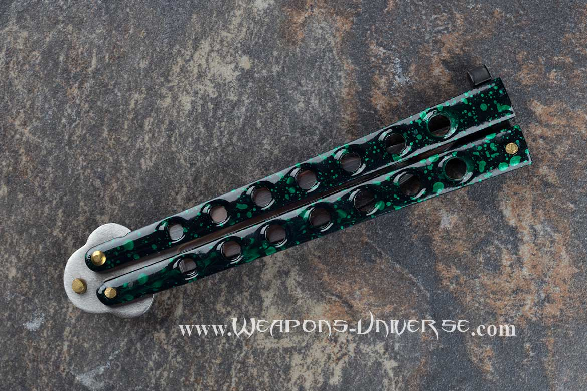 Green Butterfly Knife