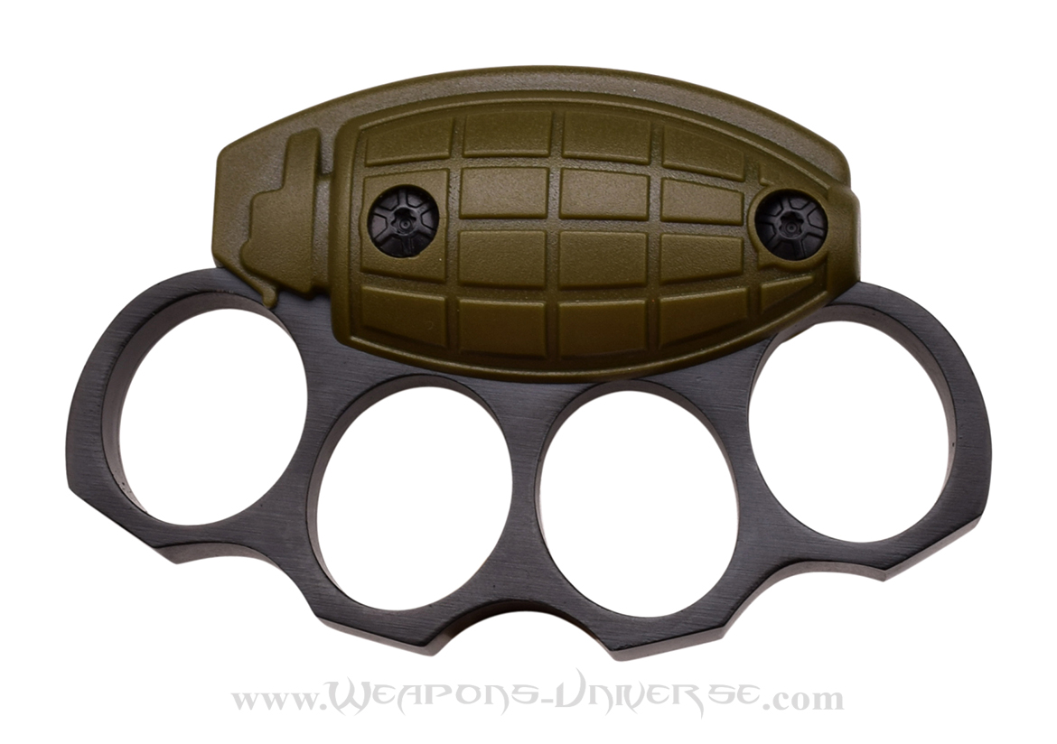 Grenade Brass Knuckles, Army Green