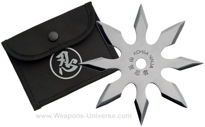 Happogota Shuriken, Semi Pro, 8 Pointed, Silver, 4 inches