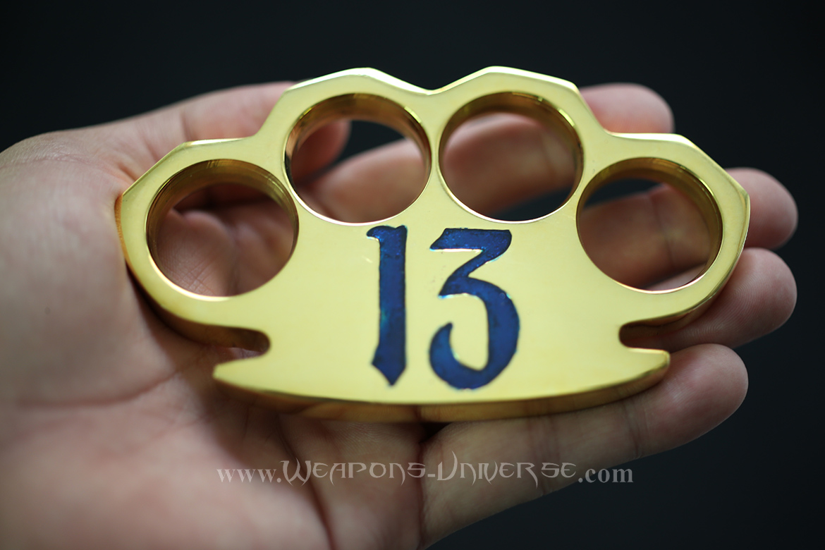 Lucky 13 Real Brass Knuckles, Blue