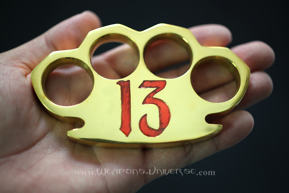 Lucky 13 Real Brass Knuckles, Red