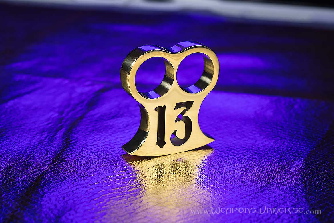 Lucky 13 Two Finger Brass Knuckles