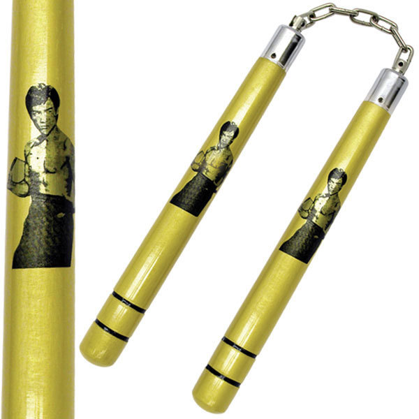 Nunchucks, Bruce Lee, Wood, Gold