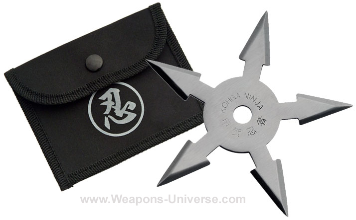 Pentagonal Shuriken, Semi Pro, 5 Pointed, Silver, 4 inches
