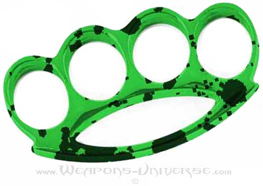 Renegade Brass Knuckles, Green Grunge, Medium