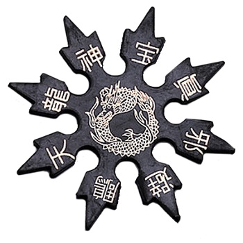 Rubber Throwing Star, Dragon