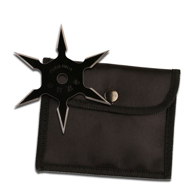 Sixter Throwing Star, Semi-Pro, 6 Pointed, Black, 4 inches