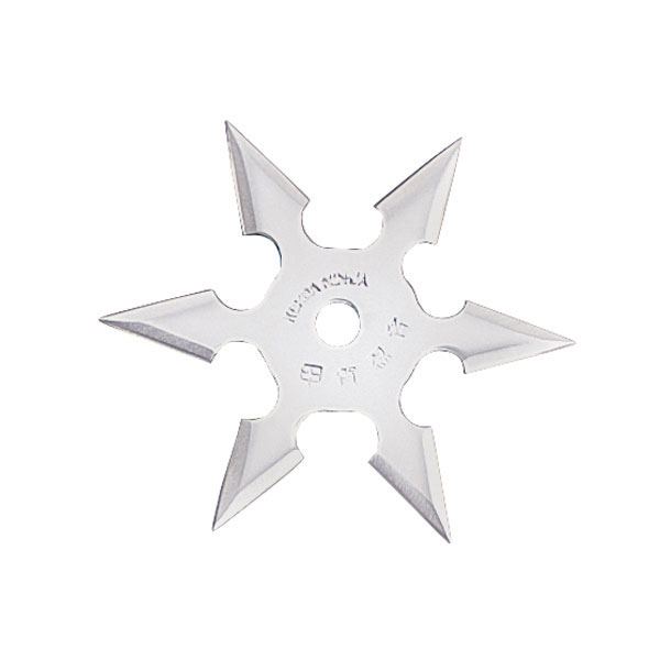 Sixter Throwing Star, Semi-Pro, 6 Pointed, Silver, 4 inches