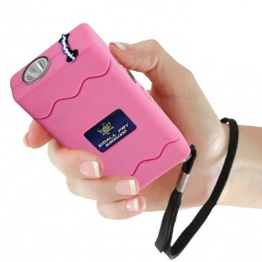 Small Fry Stun Gun, 8,800,000 Volts, Rechargeable, Pink
