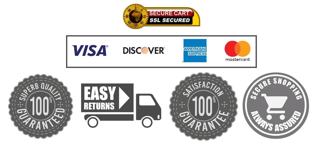 SSL Secured Cart, Easy Returns and More!