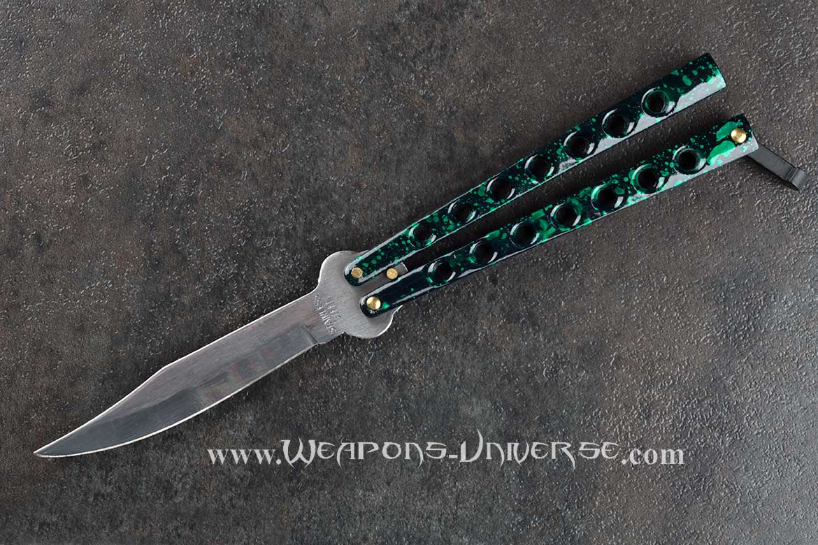 Standard Butterfly Knife, Green Grunge