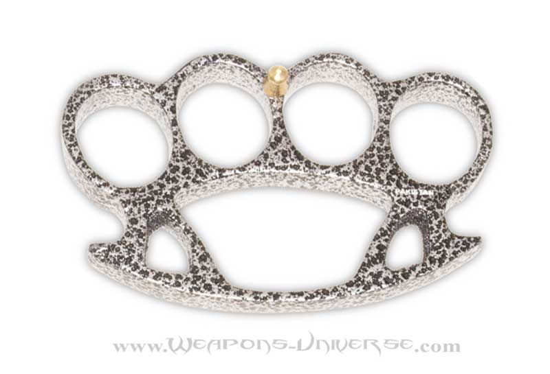 Thug Brass Knuckles, Damascus, Large