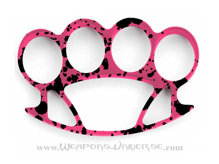 Thug Brass Knuckles, Pink Grunge, Medium