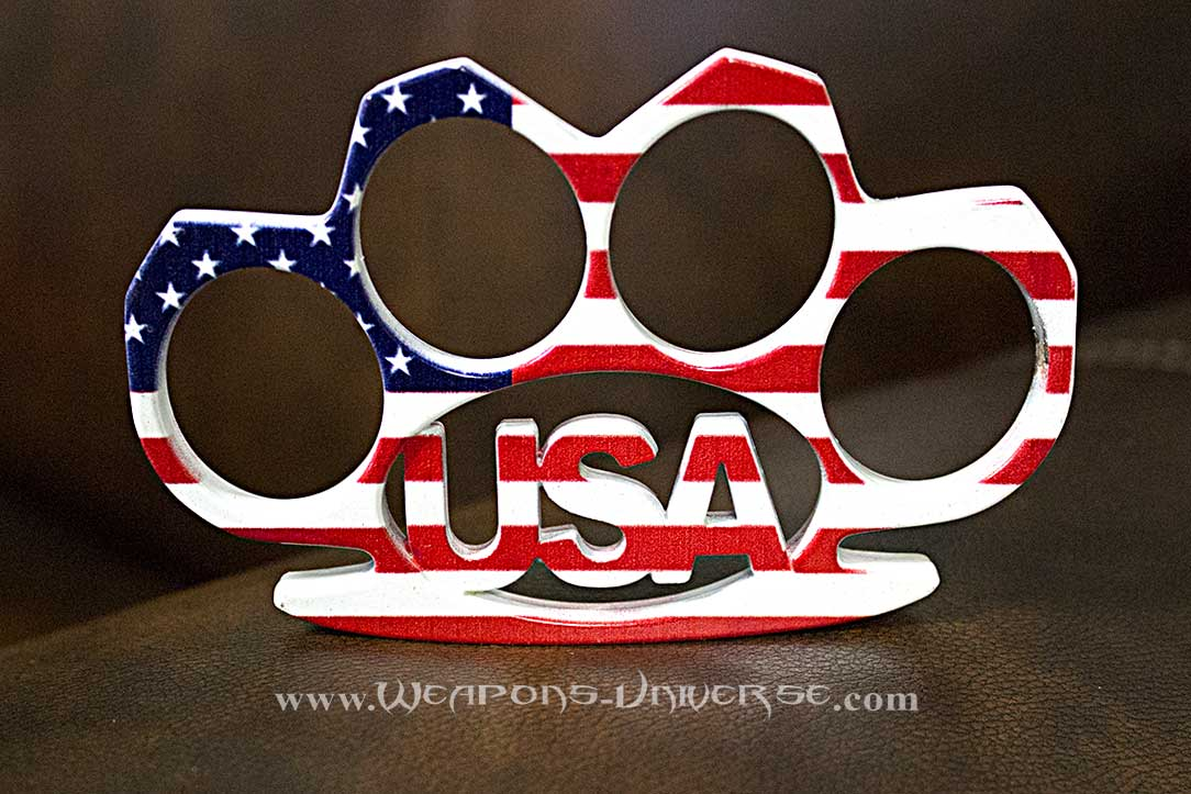 USA American Flag Brass Knuckles