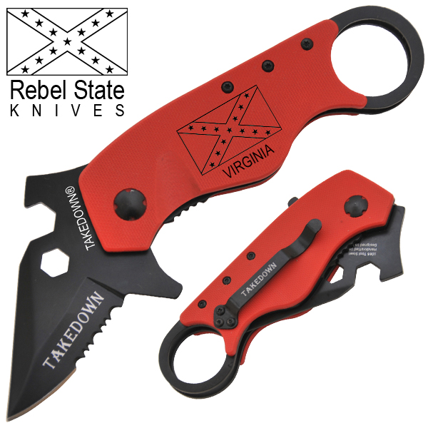 Virginia Rebel State Spring Assisted Knife