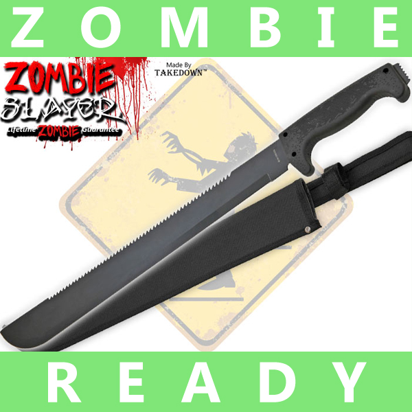 Full Tang Undead Slayer Machete - Black AP0005BK