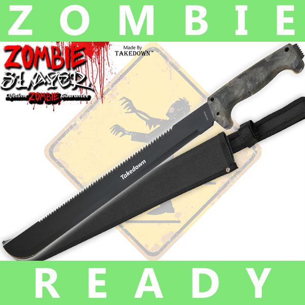 Full Tang Undead Slayer Machete - Hunting Camo AP0005CM5/TD