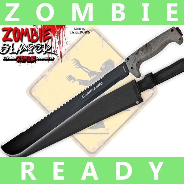 Full Tang Undead Slayer Machete - Hunting Camo AP0005CM1/CO