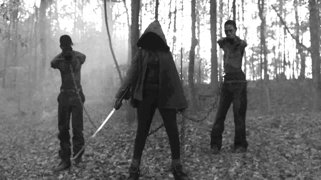 Michonne with Sword and Zombie Slaves