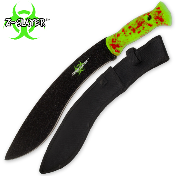Z-Slayer Undead Blood Gurkha Kukri Full Tang Machete Z-1046-GR